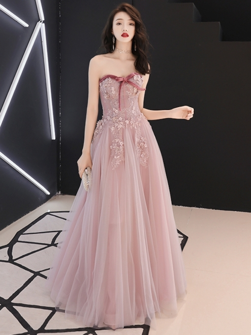 A-Line Sleeveless Floor-Length Sweetheart Prom Dress
