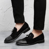 Animal Print Low-Cut Upper Plain Pointed Toe Men's Prom Shoes