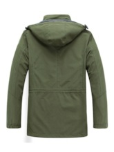 Hooded Zipper Thick Mid-Length Straight Men's Jacket