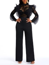 Full Length Plain Patchwork Casual Slim Women's Jumpsuit