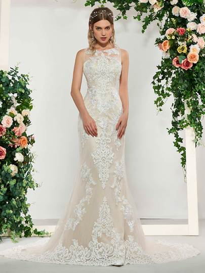 Appliques Lace Mermaid Wedding Dress 2019 Appliques Lace Mermaid Wedding Dress 2019