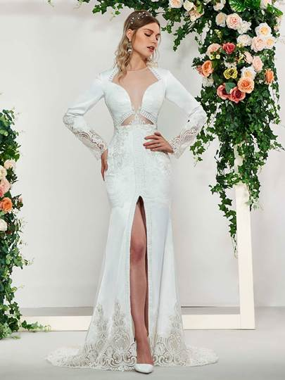 Long Sleeve Lace Trumpet Wedding Dress 2019 Long Sleeve Lace Trumpet Wedding Dress 2019