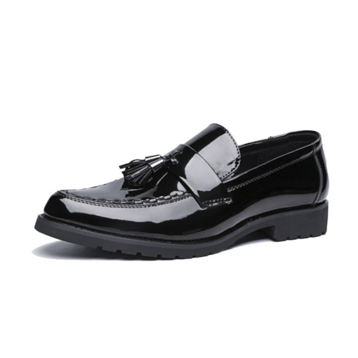 Low-Cut Upper Plain Pointed Toe Tassel Men's Leather Shoes