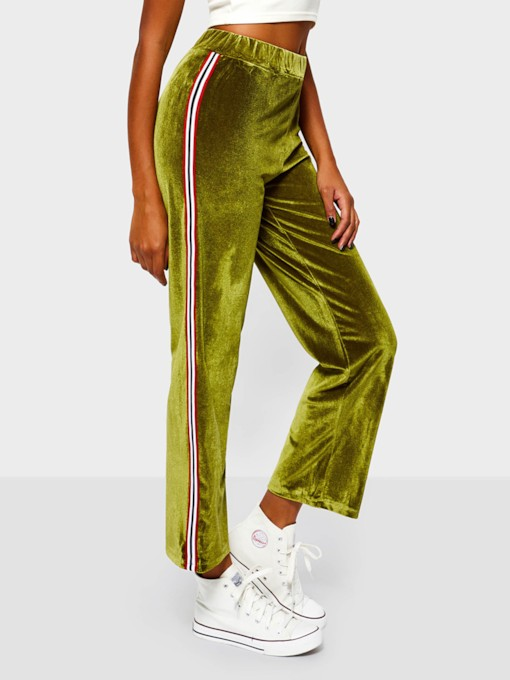 Striped Loose Full Length Women's Casual Pants