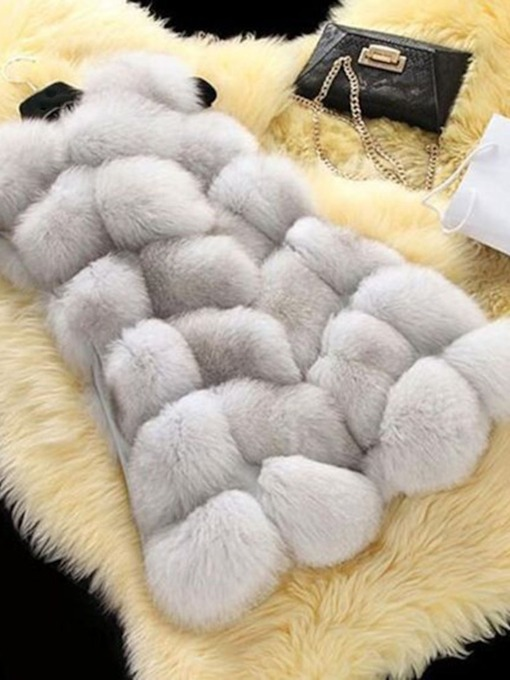Fluffy Plain Wrapped Flocking Thick Women's Vest