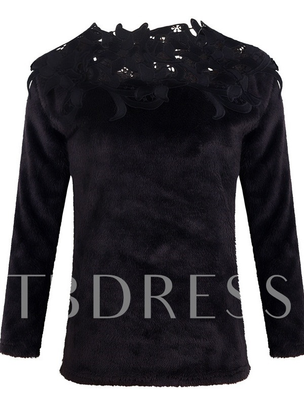 Lace Patchwork Slim Women's Sweater