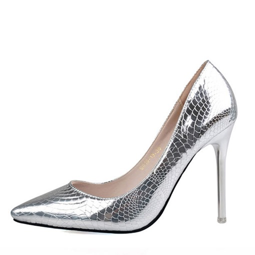 Slip-On Stiletto Heel Pointed Toe Banquet Animal Print Prom Shoes