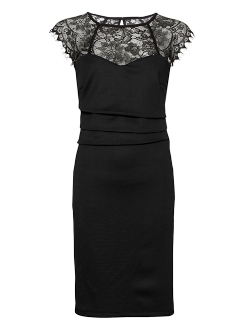 Cap Sleeve Round Neck Lace Women's Bodycon Dress