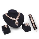 Shiny Diamante with Pearl Inlaid African Style Jewelry Sets