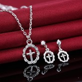 Cross European Diamante Wedding Jewelry Sets