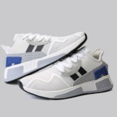 Patchwork Lace-Up Low-Cut Upper Mesh Men's Sneakers