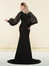 Trumpet Pick-Ups Scoop Floor-Length Evening Dress 2019