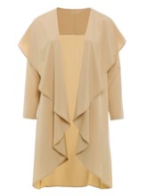 Asymmetric Plus Size Women's Trench Coat