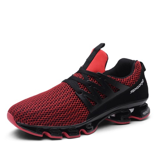 Low-Cut Upper Lace-Up Round Toe Mesh Men's Sneakers