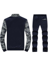 Camouflage Printed Men's Sports Suit