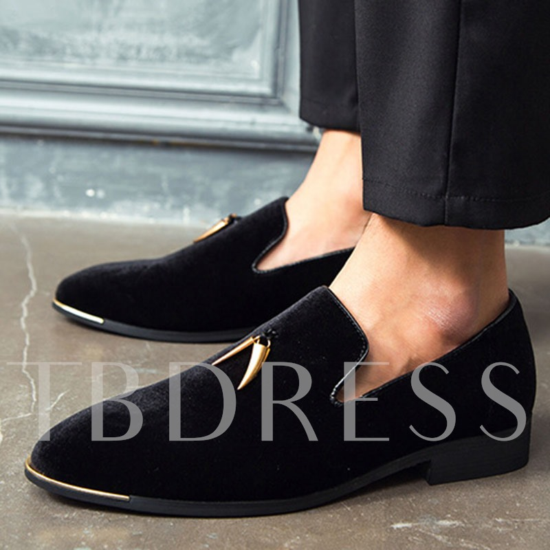 Low-Cut Upper Plain Slip-On Round Toe Men's Prom Shoes