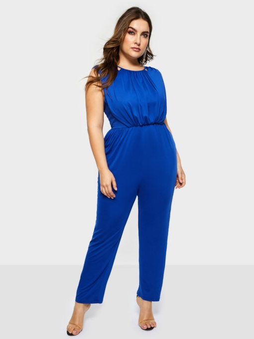 Plus Size Sexy Full Length High-Waist Women's Jumpsuits