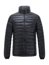 Plain Stand Collar Casual Men's Down Jacket