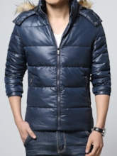 Plain Casual Hooded Men's Down Jacket