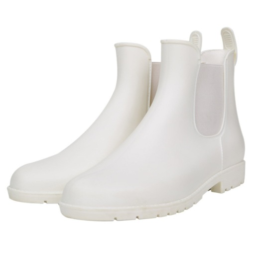 Block Heel Elastic Round Toe Casual Waterproof Hunter Boots