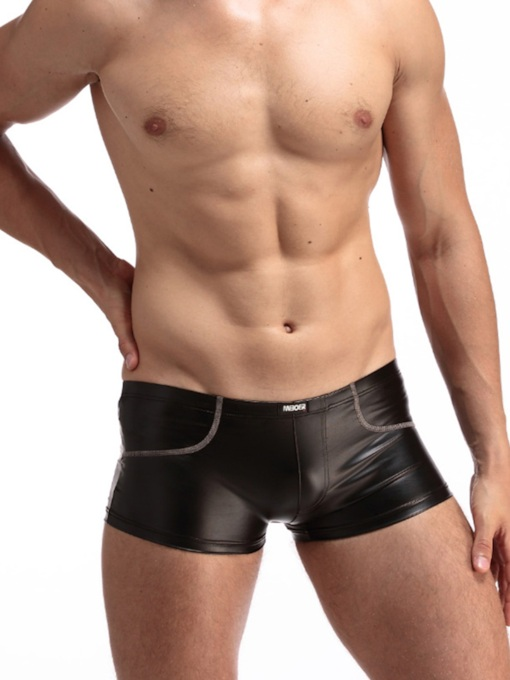 Low-Waist Plain Men's Boxer briefs