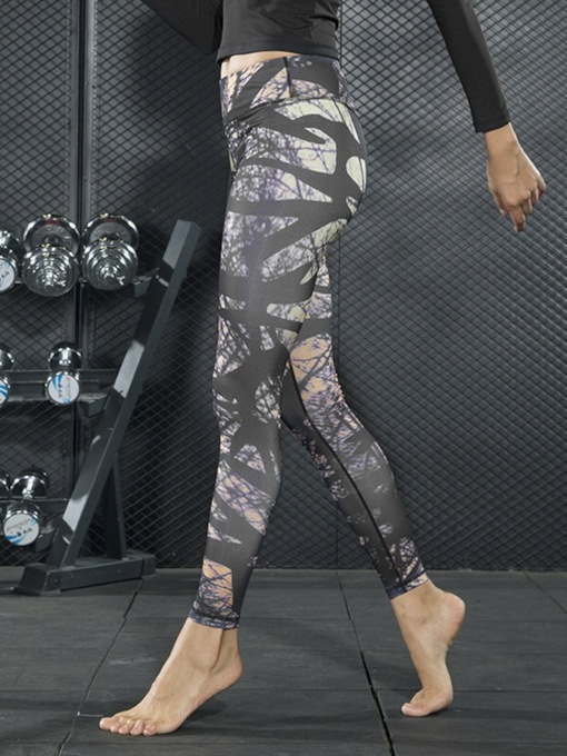 Anti-Sweat Print Full Length Summer Yoga Pants