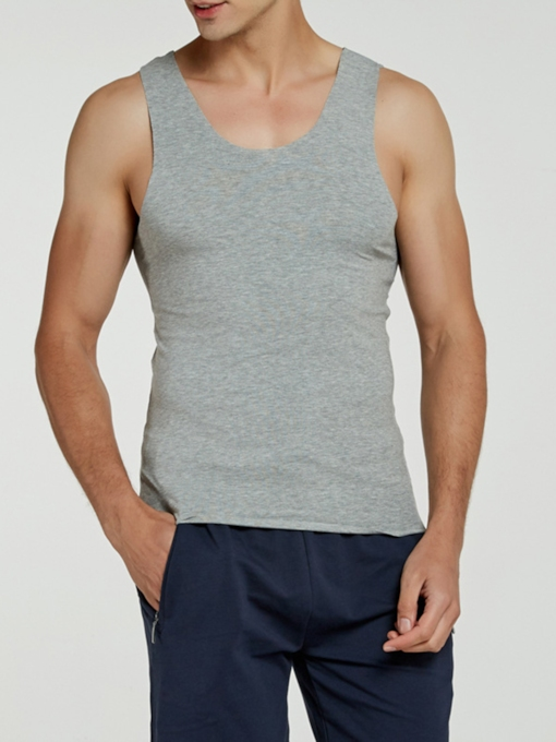 Seamless Round Neck Tight Men's Vest