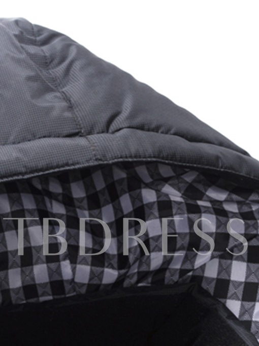 Plain Casual Straight Hooded Men's Down Jacket