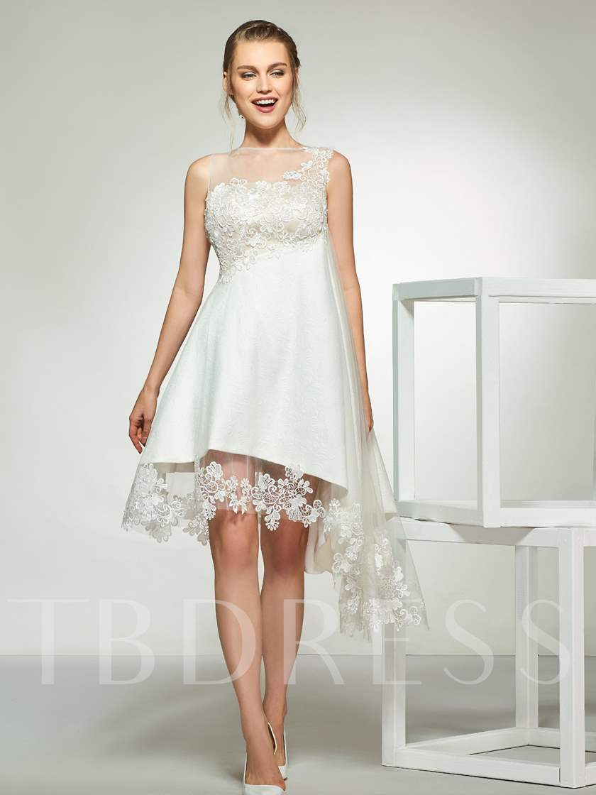 high low beach wedding dresses