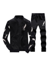 Jacket & Pants Feather Printed Men's Outfit