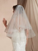 Two-Layer Elbow Wedding Veil