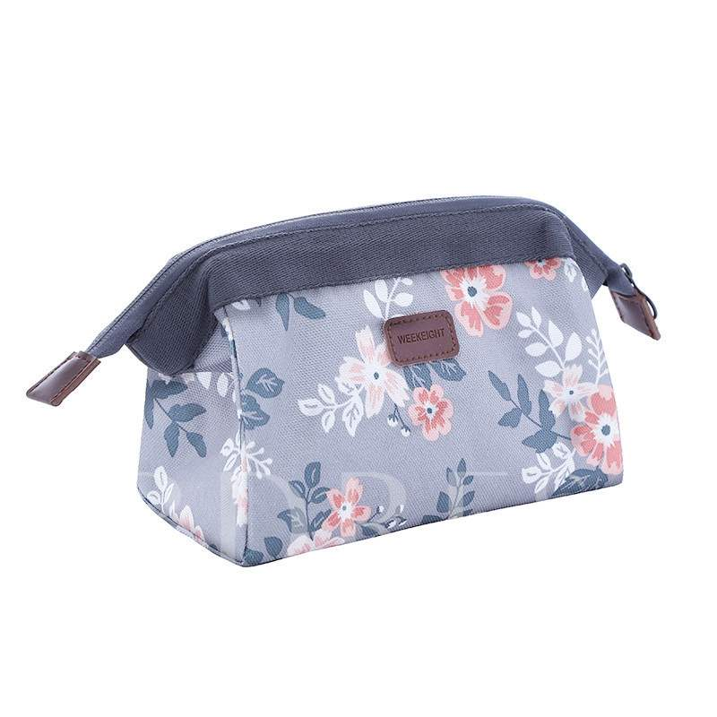 Print Cartoon Polyester Christmas Cosmetic Bags/Cases