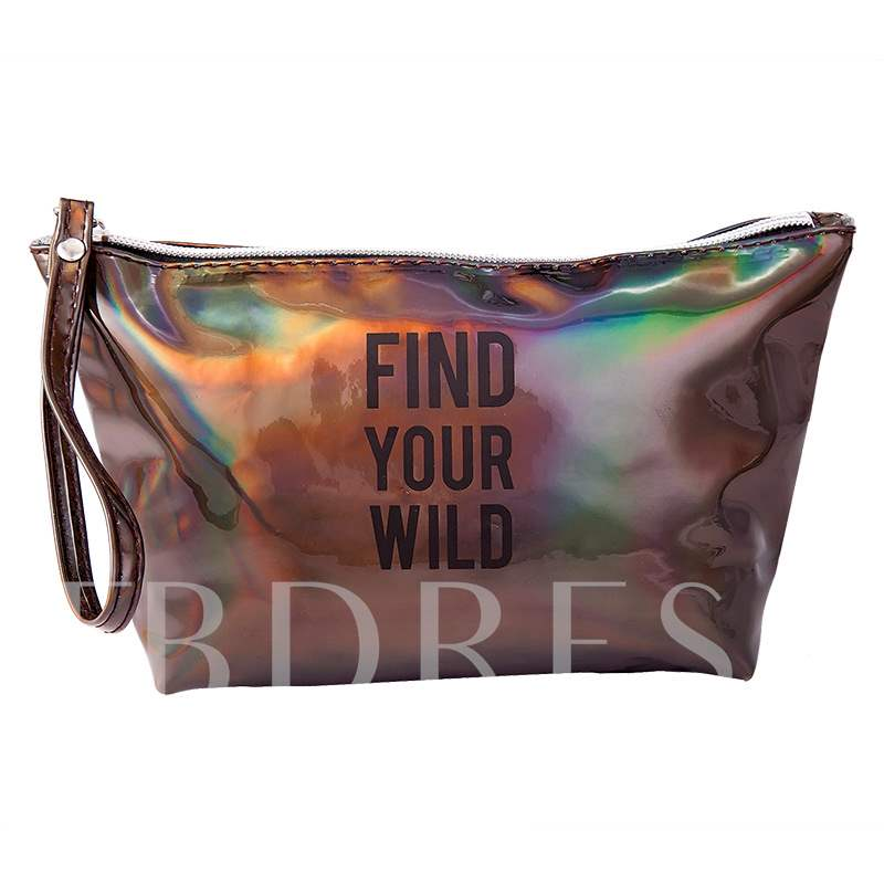 Party Queen Print Letter Cosmetic Bags/Cases