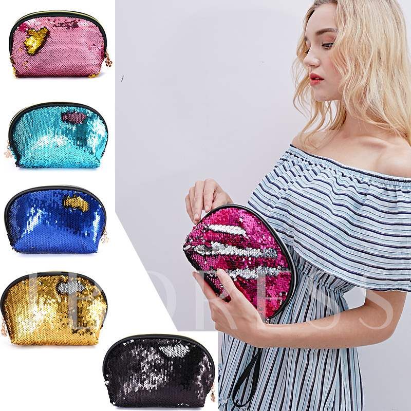 Party Queen Polyester Sequins Cosmetic Bags/Cases