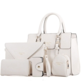 Elegent Solid Color 5 Pieces Tote Bag Set