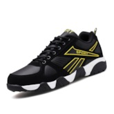 Patchwork Low-Cut Upper Lace-Up Round Toe Men's Sneakers