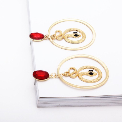 Snake-Shaped Shape Alloy Party Earrings