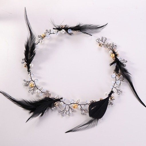 Feather Decorated Handmade Wedding Hair Accessories