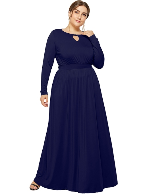 Long Sleeve A-Line Women's Maxi Dress