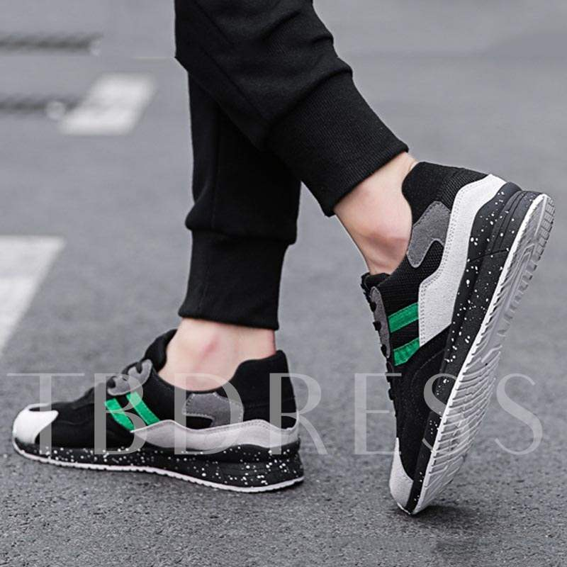 Lace-Up Low-Cut Upper Patchwork Mesh Casual Men's Sneakers