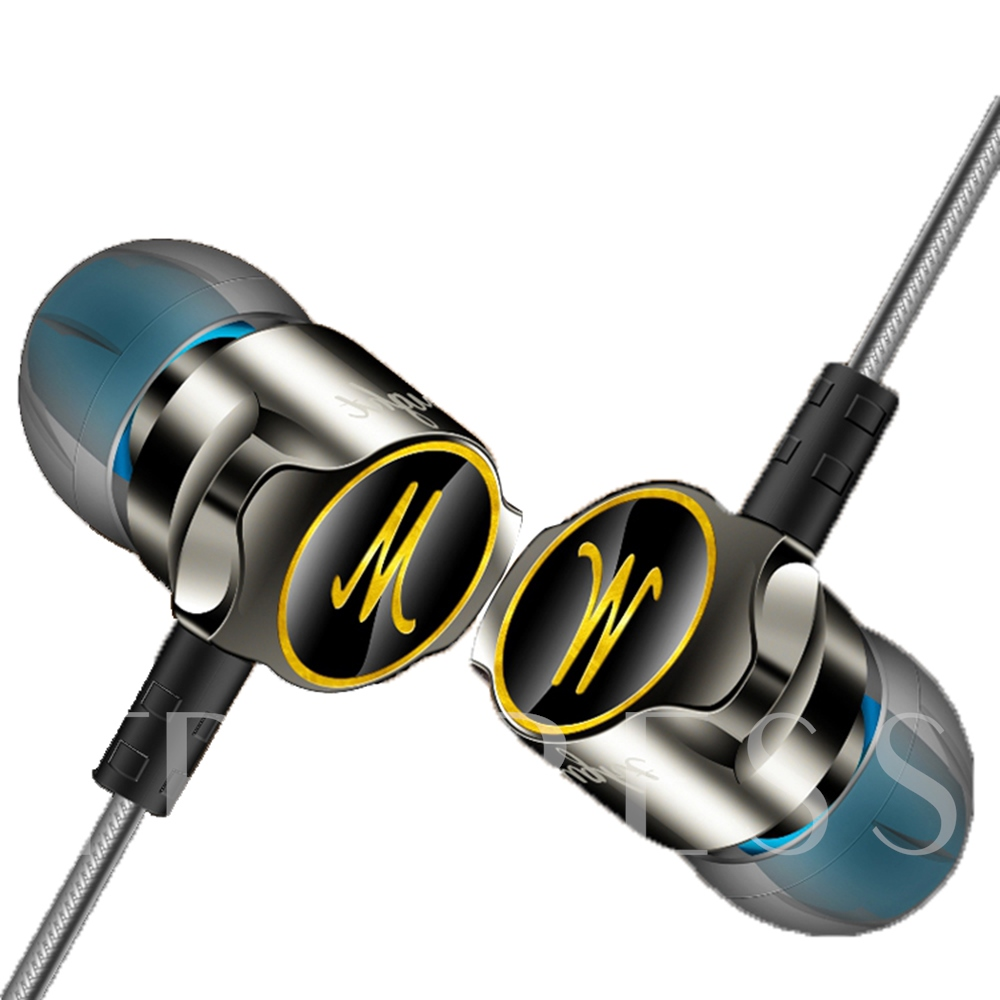 D06 Zinc Alloy Earphone In-ear Headphones Sports Subwoofer Mobile Phone Headse