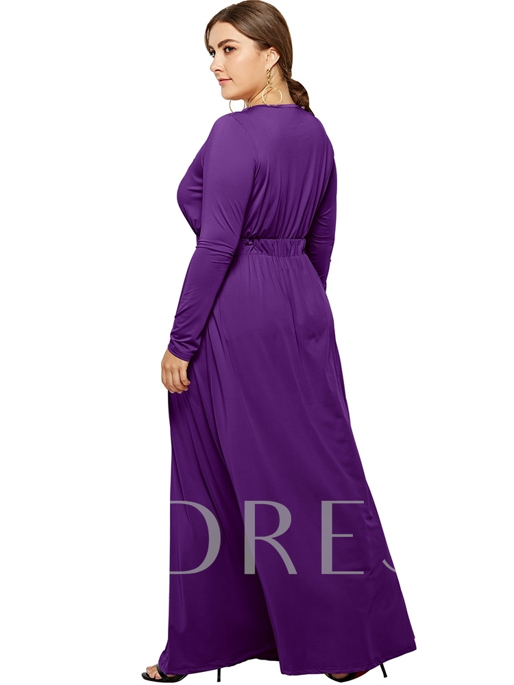 robe longue femme grande taille manches longues a-line