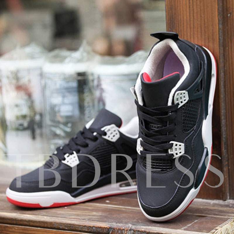 Lace-Up Low-Cut Upper Mesh Air-Cushion Sneakers for Men
