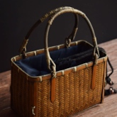 Plain Knitted Rectangle Tote Bags