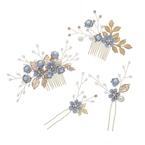 Sweet Floral Shape E-Plating Wedding Hair Accessories