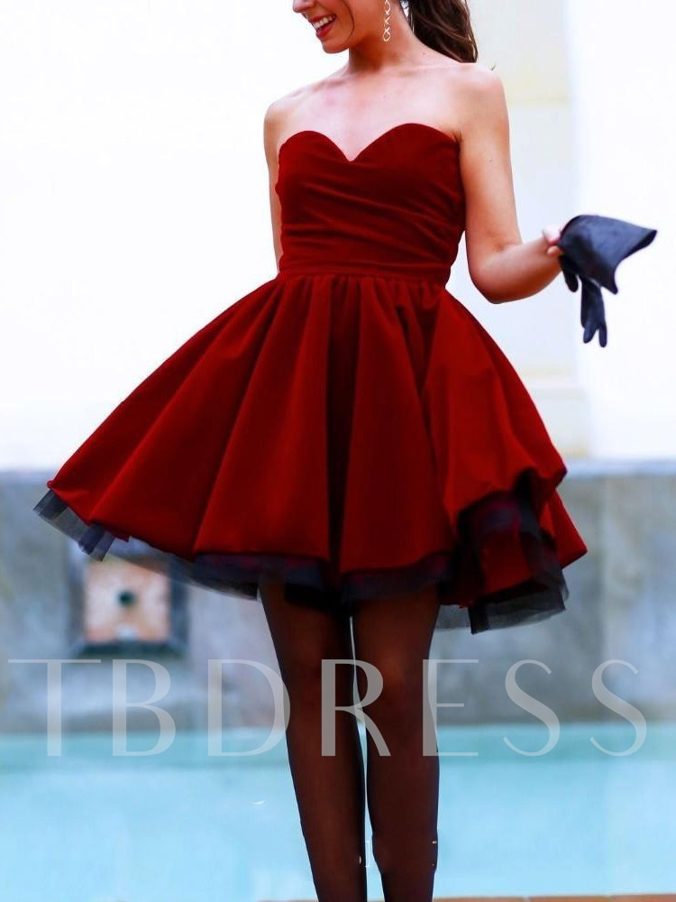 Sweetheart Pick-Ups Ball Gown Sleeveless Cocktail Dress