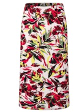 Bodycon Floral Print Mid-Calf Date Night Women's Skirt