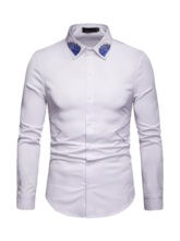 Casual Lapel Embroidery Spring Men's Shirt