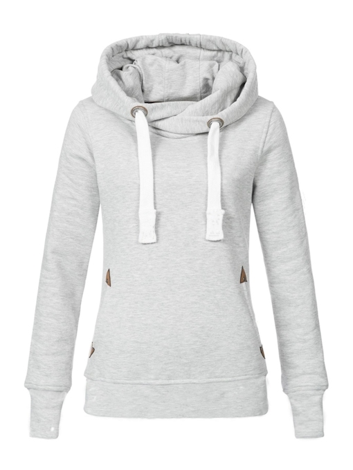 Drawstring Plain Winter Women's Hoodie