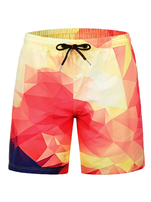 Straight 3D Men's Beach Shorts